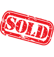 Sold stamp vector image
