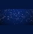 sparse snowfall christmas background subtle flyin vector image vector image