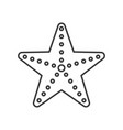 starfish icon set of ocean life line design vector image vector image