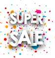 Super sale paper background vector image