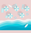top view beach without people flat style empty vector image vector image