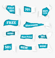 torn paper curls sale realistic vector image vector image