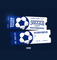 two modern professional design football tickets vector image vector image