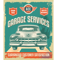 Vintage sign - Advertising poster - Classic car vector image vector image
