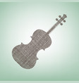 violin sign brown flax icon vector image vector image