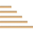 wooden rulers vector image vector image