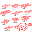 word i love you in eleven languages vector image vector image