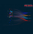 abstract colorful big data information vector image