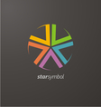 Colorful star logo elements vector image