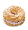 Realistic sweet cute colorful donut with vector image