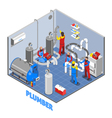 3d Plumber People Composition vector image vector image