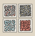 abstract art composition labyrinth minimalist vector image