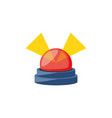 alarm light emergency isolated icon vector image vector image