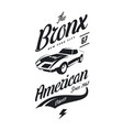 american muscle car tee-shirt logo vector image vector image