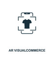 ar visualcommerce icon mobile app printing web vector image