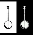 banjo in black and white vector image vector image