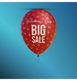 Big Sale Valentines Day red Balloon Banner vector image