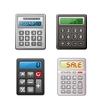Calculator collection vector image vector image