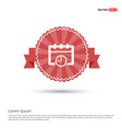calendar web icon - red ribbon banner vector image