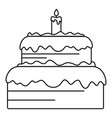 candy cake icon outline style vector image vector image