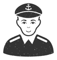 Captain Grainy Texture Icon vector image vector image
