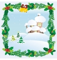 Christmas Landscape Winter Snow Houses Roofs vector image vector image