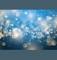 christmas snowflake and stars vector image vector image
