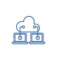cloud technologies line icon concept cloud vector image vector image