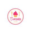 cupcake logo design inspiration vector image vector image
