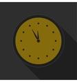 dark gray and yellow icon - clock vector image vector image