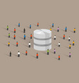 database big data server web hosting people crowd vector image vector image
