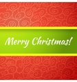 Excellent bright merry christmas greeting card vector image vector image