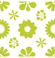 flower simple minimalistic seamless pattern vector image vector image
