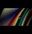 fluid rainbow colors on black background vector image vector image