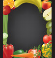 frame made from fruits and vegetables vector image vector image