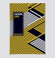 futuristic minimal brochure graphic design vector image vector image