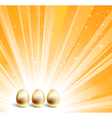 gold eggs vector image vector image