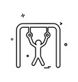 hanging icon design vector image