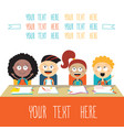 happy kids at lesson back to school theme vector image vector image