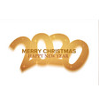 happy new 2020 year holiday vector image vector image