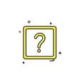 help icon design vector image