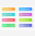 interface gradient buttons vector image vector image