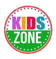 kids zone stamp vector image vector image