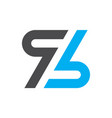 letter z logo design icon vector image vector image