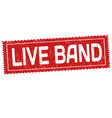 live band grunge rubber stamp vector image