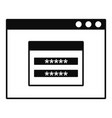 login account icon simple style vector image