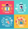 medicine and technology conceptual healthcare vector image