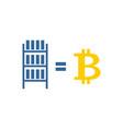 mining bitcoin farm icon extraction of vector image