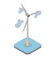 model wind driven generator vector image