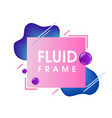 Modern abstract blue fluid frame